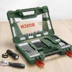 Bosch 83-tlg. V-Line TiN Bohrer- & Bit-Set mit LED-Taschenlampe & Rollgabelschlüssel für 18,99€ inkl. Versand