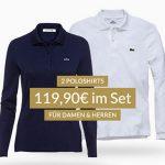 Lacoste Poloshirts im 2er-Pack für 119,90€ inkl. Versand