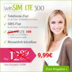 winSIM: Allnet- + SMS-Flat + 1GB LTE für 9,99€ – monatlich kündbar