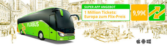 flixbus fernreisen bus angebot günstig billig tickets aktion