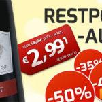Weinvorteil: Bis zu 67% Rabatt auf Restposten