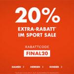 engelhorn-sports: 20% Extra-Rabatt auf bereits reduzierte Artikel