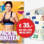 FIT FOR FUN-Jahresabo dank Prämien für effektiv nur 4,60€ (statt 39,60€)