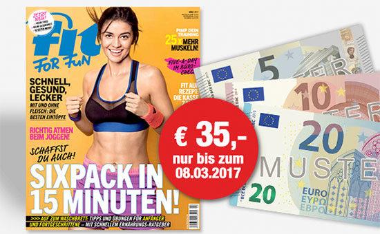 deal angebot prämienabo fit for fun zeitschrift deal schnäppchen
