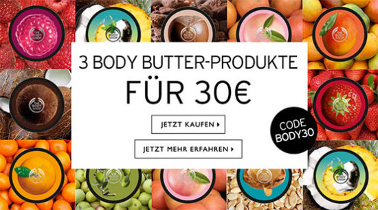 The Body Shop Body Butter angebot deal