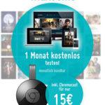 Google Chromecast 2 + 1 Monat Maxdome für nur 15,00€ statt 45,94€