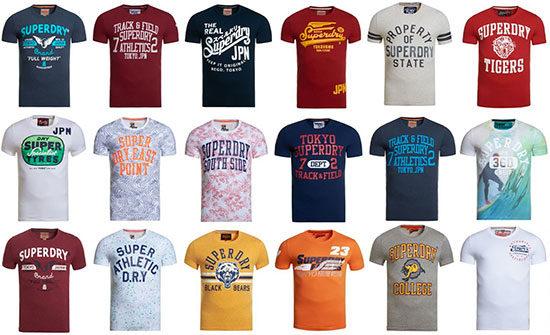 Superdry T-Shirt Damen Herren