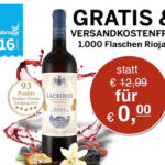 Gratis Rioja Rotwein im Wert von 13€ versandkostenfrei für eine 5€-Bestellung