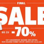 Sportscheck Sale mit bis zu 70% Rabatt + kostenlose Lieferung ab 50€
