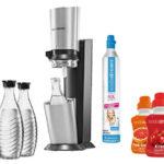 SodaStream Crystal mit 3 Glaskaraffen, 60L Zylinder und Sirup für 97,95€ inkl. Versand