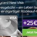 Dauerhaft beitragsfreie Barclaycard New Visa Kreditkarte + 25€ Startguthaben