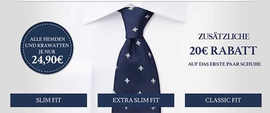 Charles Tyrwhitt Krawatten Hemden Angebot Deal