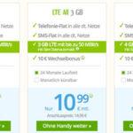 winSIM: LTE-Tarife (Allnet- & SMS-Flat mit 2GB für 7,99€, mit 3GB für 10,99€ oder mit 4GB für 13,99€)