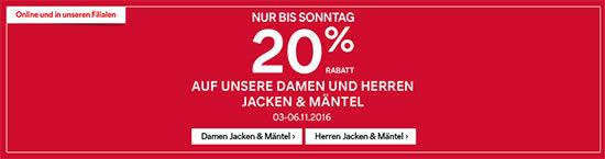 C&A Angebot Jacken und Mäntel
