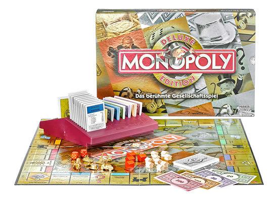 Monopoly Deluxe Edition Spiel Hasbro Klassiker günstig kaufen Weihnachtsgeschnek