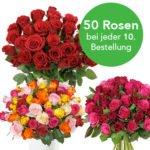 Rosen-Überraschungspakete mit bis zu 50 Rosen für 22,94€ inkl. Versand