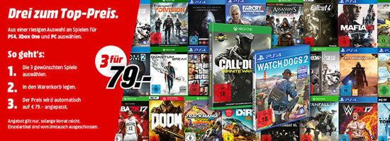 Media Markt Aktion Games Spiele Bundle Deal