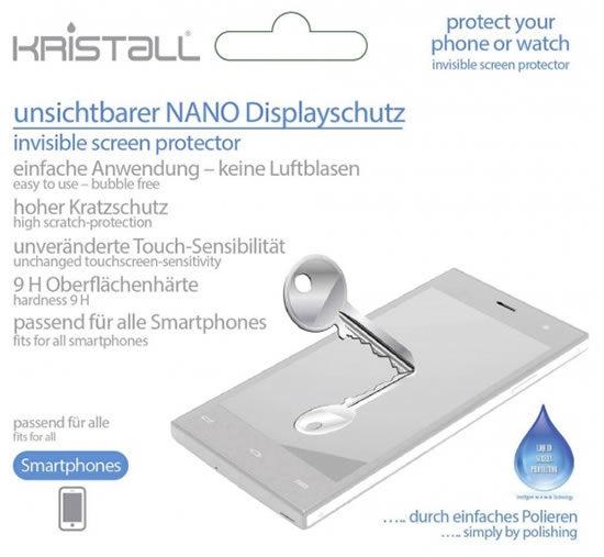 Kristall Nany Displayversiegelung Angebot Deal Handy Smartphone
