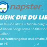 Napster: 3 Monate Napster für nur 1€ testen (statt 29,85€) – über 40 Mio. Songs