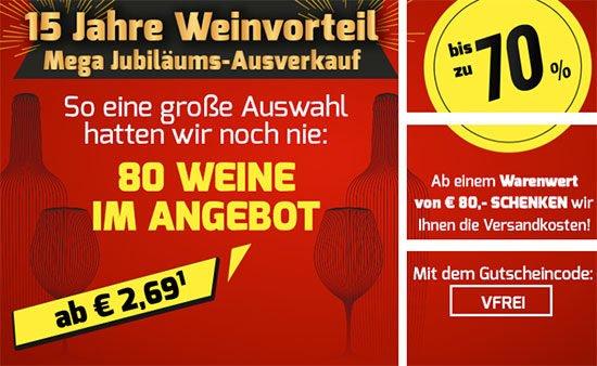 Sale Angebot Wein Deal Schnäppchen Rotwein Weißwein Roséwein
