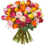 42 bunte Rosen für 23,94€ inkl. Versand
