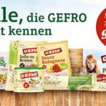 GEFRO Probierpaket mit 7 original GEFRO Produkten kostenlos