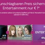 Sky Entertainment Ticket für nur 1€ im ersten Monat (statt 9,99€) – monatlich kündbar
