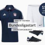 Engelhorn: 15% auf Bundesliga/Fußball-Artikel + 5€ Gutschein